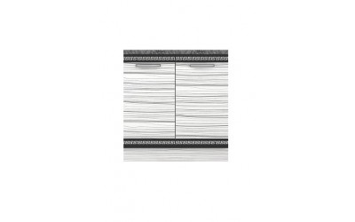 Долен модул В3 + Бордова мивка - 80 см - Кухня Елада