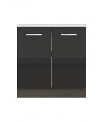Долен модул В3 + Бордова мивка - 80 см - Кухня Елинор