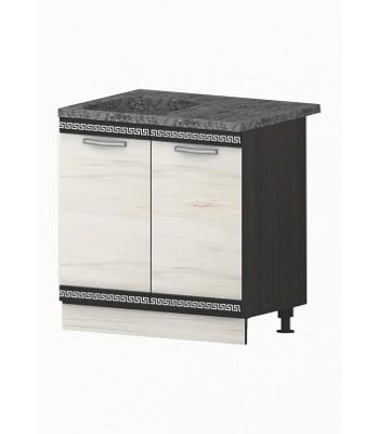 Долен модул В3 + Бордова мивка - 80 см - Кухня Елвира