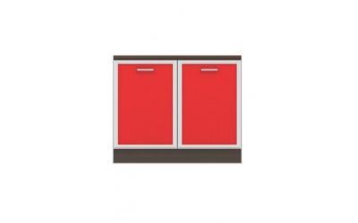 Долен модул B24 - 100 см - Кухня Регал червена