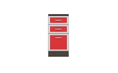 Долен модул B25 - 40 см - Кухня Регал червена