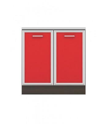 Долен модул B3 + Бордова мивка - 80 см - Кухня Регал червена