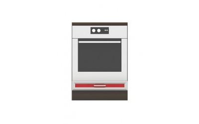 Долен модул B7 - 60 см - Кухня Регал червена