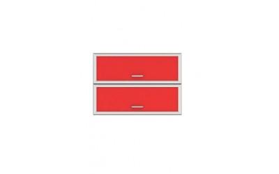 Горен модул G34 - 100 см - Кухня Регал червена