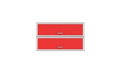 Горен модул G35 - 120 см - Кухня Регал червена