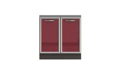 Долен модул В3 + Бордова мивка - 80 см - Кухня Венеция