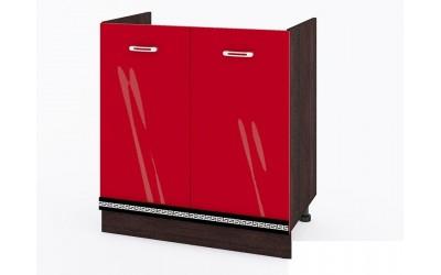 Долен модул ВП169 + Бордова мивка - 80 см - Кухня Версаче червена