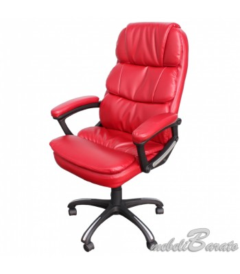 Президентски стол 6034 - червен - За офиса