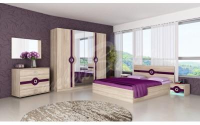 Спален комплект Фиона патладжан - Спални комплекти