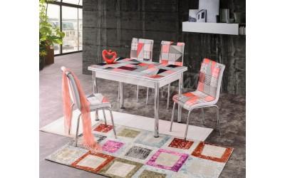 Комплект маса+ 4 стола Dilara 1 - Трапезни маси