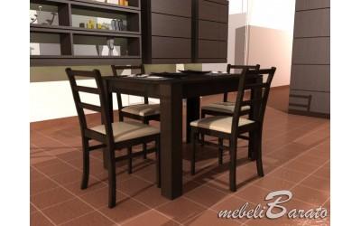 Трапезна маса Еми+4 стола Стил-венге - Трапезни маси