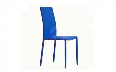 Трапезен стол К254 син - За дома